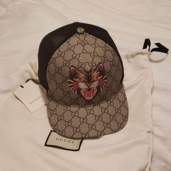 332c7e5c12373e Gucci Accessories | Angry Cat Gg Supreme Baseball Cap | Poshmark
